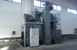 Gebrauchte OMSG Rollenbahn-Strahlanlage 2000 x 500 mm