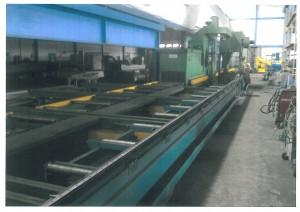 Gebrauchte Rollenbahn-Strahlanlage Gietart GW 1000